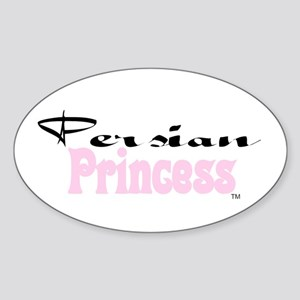 Persian Princess Oval Sticker