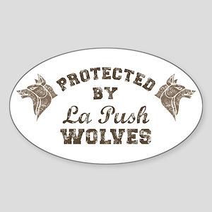 twilight La Push Wolves brown Sticker (Oval)