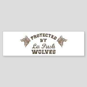 twilight La Push Wolves brown Sticker (Bumper)