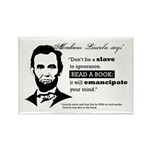 """Abraham Lincoln """"Read A Book"""" Magnet"""