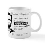 """Abraham Lincoln """"Read A Book"""" Mug"""