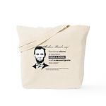 "Abraham Lincoln ""Read A Book"" Tote Bag"