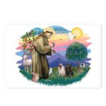 St Francis #2/ Pugs (blk&f) Postcards (Package of