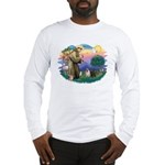 St Francis #2/ Pugs (blk&f) Long Sleeve T-Shirt