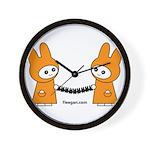 Fleegan Paperdolls Wall Clock