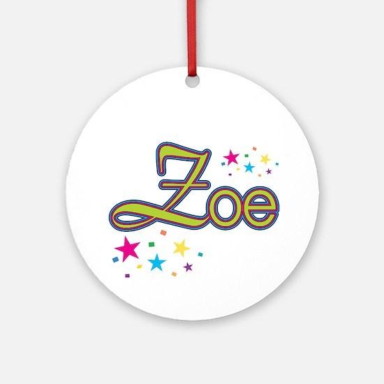 Zoe Ornament (Round)