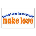 Make Love - Sticker (Rectangle)