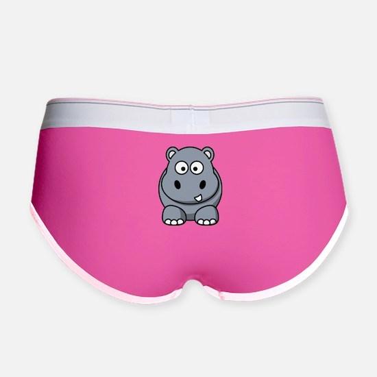Cute Hippo Women's Boy Brief