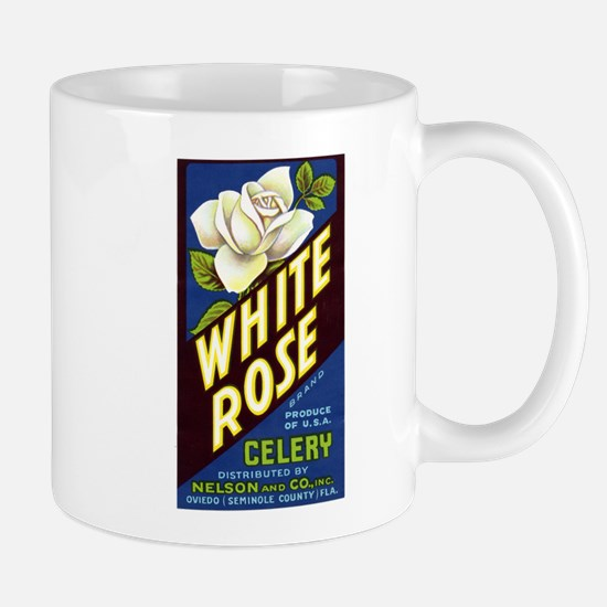 White Rose Celery Crate Label Mug