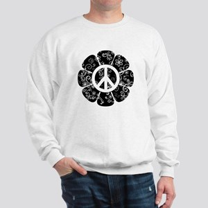 Peace Symbol Flower Sweatshirt