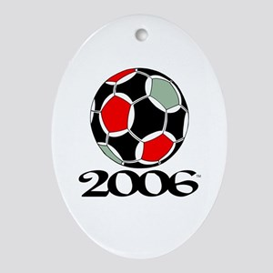 Soccer '06 Oval Ornament