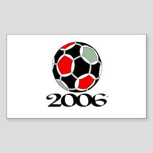 Soccer '06 Rectangle Sticker