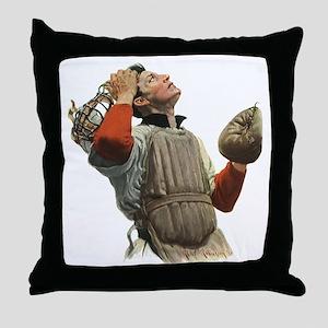 Vintage Sports Baseball Throw Pillow
