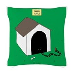Guard Turtle Woven Throw Pillow
