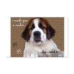 St Bernard Puppy Cookie Mini Poster Print