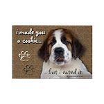 St Bernard Puppy Cookie Rectangle Magnet (10 pack)