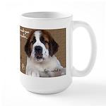 St Bernard Puppy Cookie Large Mug