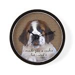 St Bernard Puppy Cookie Wall Clock