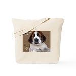 St Bernard Puppy Cookie Tote Bag