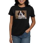 St Bernard Puppy Cookie Women's Dark T-Shirt
