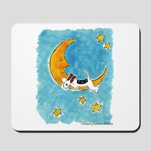 Wire Fox Terrier/Moon Mousepad