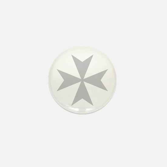 Silver Maltese Cross Mini Button