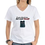 Shoot Me Women's V-Neck T-Shirt