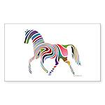 My Rainbow Horse Sticker (Rectangle 50 pk)