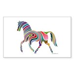 My Rainbow Horse Sticker (Rectangle 10 pk)