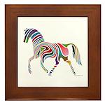 My Rainbow Horse Framed Tile
