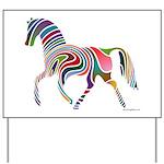 My Rainbow Horse Yard Sign