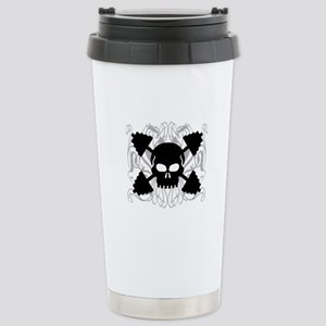 Weightlifting Skull Stainless Steel Travel Mug