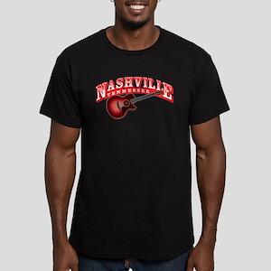 Nashville Guitar Men's Fitted T-Shirt (dark)
