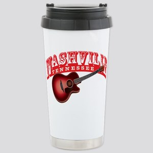 Nashville Guitar Stainless Steel Travel Mug
