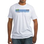 White Sand Beach Fitted T-Shirt