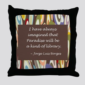 Paradise the Library Throw Pillow