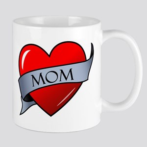 Mom Heart Tattoo Mug