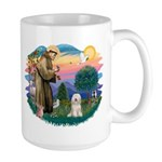 St Francis #2/ Tibetan Ter Large Mug