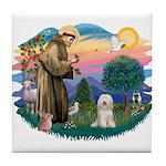 St Francis #2/ Tibetan Ter Tile Coaster