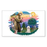 St Francis #2/ Tibetan Ter Sticker (Rectangle)