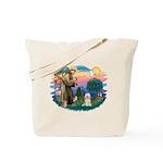 St Francis #2/ Tibetan Ter Tote Bag