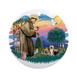 St Francis #2/ Silkies (2) Ornament (Round)