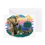 St Francis #2/ Tibetan Span Greeting Cards (Pk of