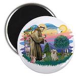 St Francis #2/ Tibetan Span (f) Magnet
