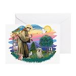 St Francis #2/ Tibetan Span (f) Greeting Cards (Pk