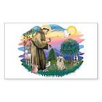 St Francis #2/ Tibetan Span (f) Sticker (Rectangle