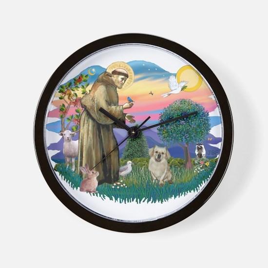 St Francis #2/ Tibetan Span (f) Wall Clock