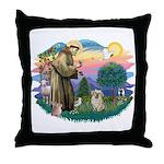 St Francis #2/ Tibetan Span (f) Throw Pillow