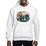 St Francis #2/ Tibetan Span (f) Hooded Sweatshirt