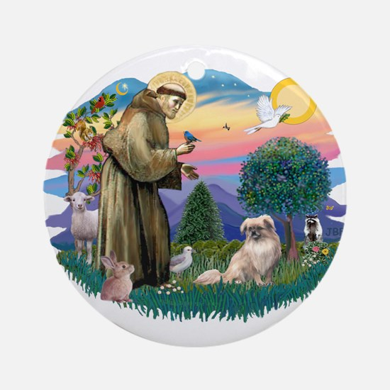 St Francis #2/ Tibetan Span #4 Ornament (Round)